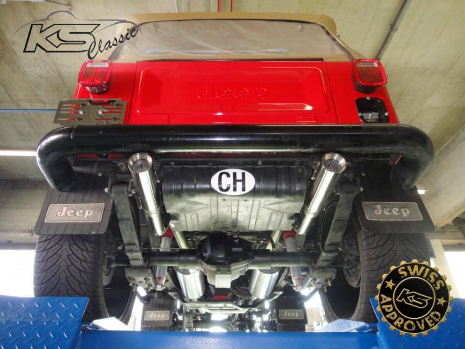 Jeep CJ7 2-KS-Classic-by-KS-Automotive-AG--Edelstahlauspuff-Chromstahlauspuff-Anfertigung-inox-exhaust-manufacturing-stainless-steel-manufacturing